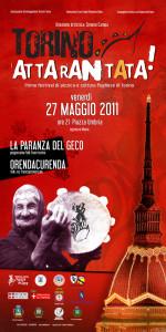 Manifesto 2011 Torino Attarantata - Simone Campa - La Paranza del Geco